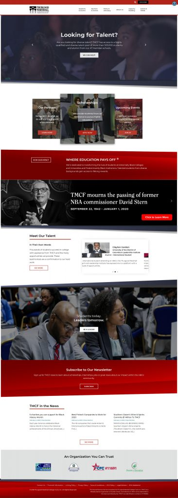 TMCF Website Home Page