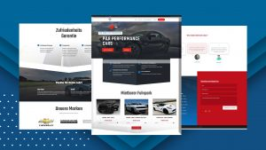P&R Performance Cars Website Template Thumbnail